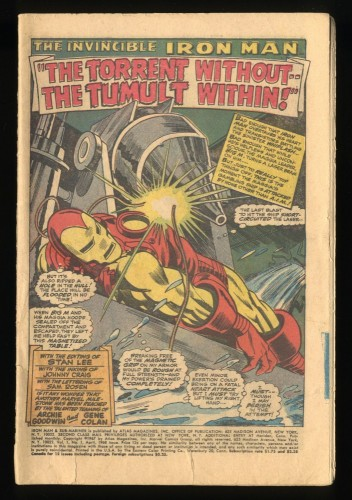 Iron Man and Sub-Mariner #1 Coverless Complete!