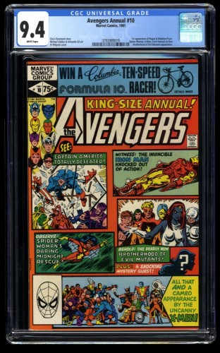 Avengers Annual #10 CGC NM 9.4 White Pages 1st Rogue!