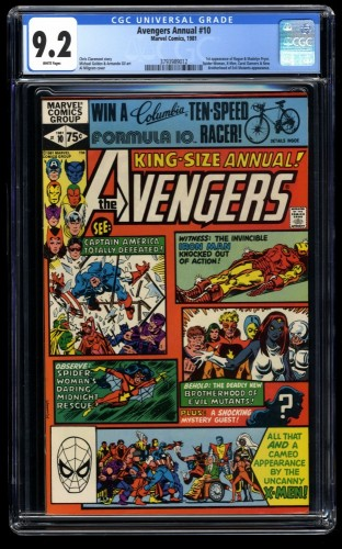 Avengers Annual #10 CGC NM- 9.2 White Pages 1st Rogue!