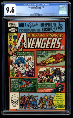 Avengers Annual #10 CGC NM+ 9.6 White Pages 1st Rogue!