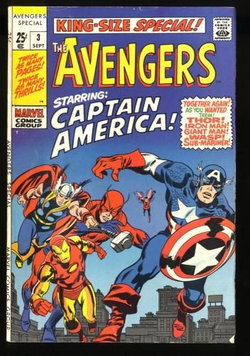Avengers Annual #3 FN- 5.5 Thor Captain America Iron Man!