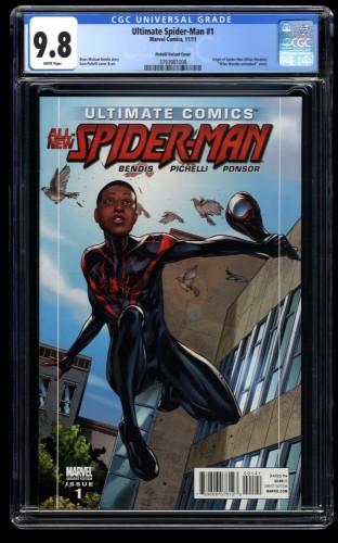Ultimate Spider-Man #1 CGC NM/M 9.8 1:15 Pichelli Variant Unmasked