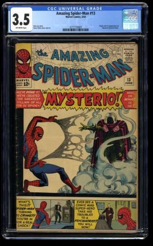Amazing Spider-Man #13 CGC VG- 3.5 Off White 1st Mysterio!