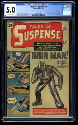 Tales Of Suspense #39 CGC VG/FN 5.0 Off White 1st Iron Man!