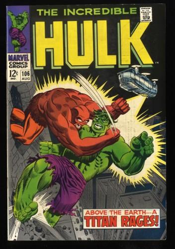 Incredible Hulk #106 VF/NM 9.0 2nd Missing Link!