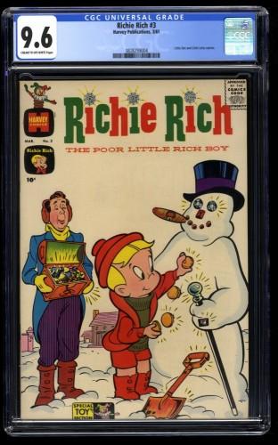 Richie Rich #3 CGC NM+ 9.6 Cream To Off White