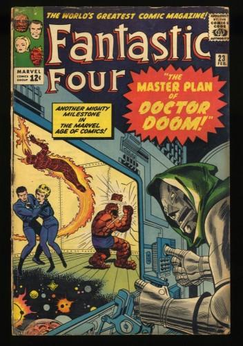 Fantastic Four #23 GD+ 2.5 Doctor Doom!