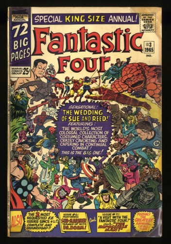 Fantastic Four Annual #3 VG- 3.5