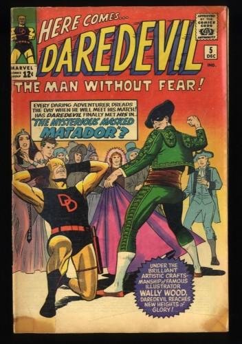 Daredevil #5 GD+ 2.5 1st Matador!