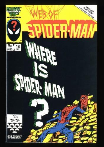 Web of Spider-Man #18 NM+ 9.6 1st Eddie Brock!