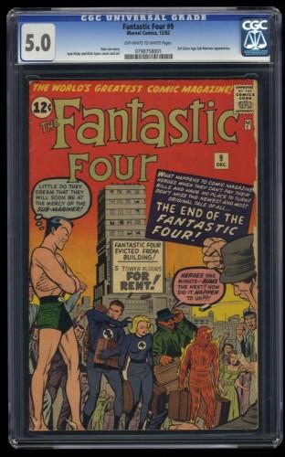 Fantastic Four #9 CGC VG/FN 5.0 Off White to White