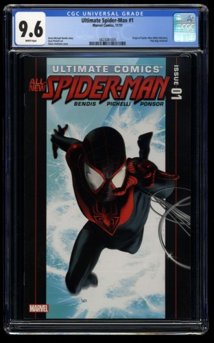 Ultimate Spider-Man (2011) #1 CGC NM+ 9.6 White Pages Miles Morales!