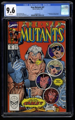 New Mutants #87 CGC NM+ 9.6 White Pages 1st Cable!