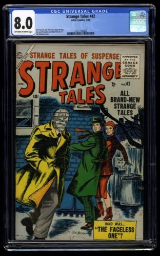 Strange Tales #42 CGC VF 8.0 Off White to White