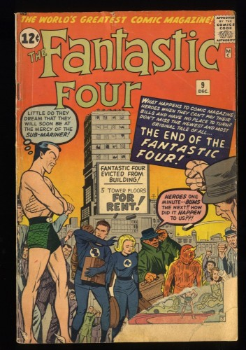 Fantastic Four #9 FA/GD 1.5