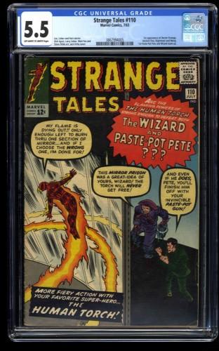 Strange Tales #110 CGC FN- 5.5 Off White to White 1st Doctor Strange!