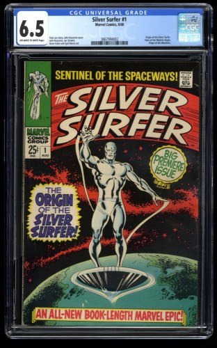 Silver Surfer #1 CGC FN+ 6.5 Off White to White