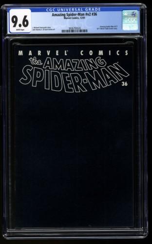 Amazing Spider-Man (1999) #36 CGC NM+ 9.6 9/11 World Trade Center Black Cover!