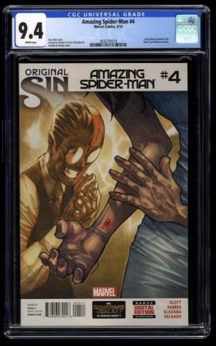 Amazing Spider-Man (2014) #4 CGC NM 9.4 White Pages 1st Silk!