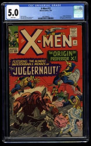 X-Men #12 CGC VG/FN 5.0 White Pages 1st Juggernaut!