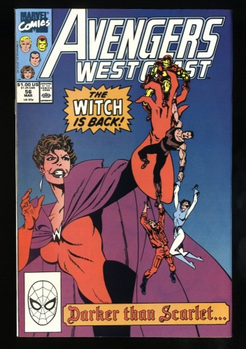 West Coast Avengers #56 NM- 9.2 1st Dark Scarlet Witch!