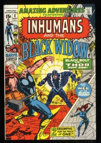 Amazing Adventures #8 VF- 7.5 Black Widow Inhumans Thor!