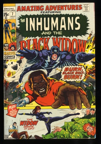 Amazing Adventures #7 FN/VF 7.0 White Pages Inhumans Black Widow!