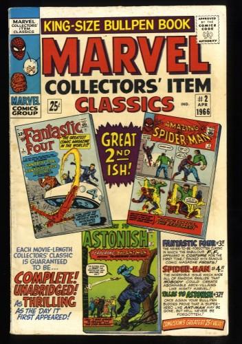 Marvel Collectors' Item Classics #2 VG+ 4.5 Fantastic Four Amazing Spider-Man!
