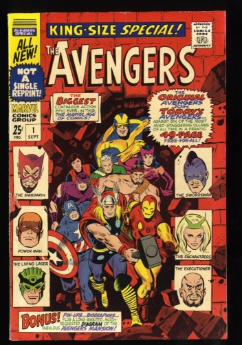 Avengers Annual #1 FN+ 6.5