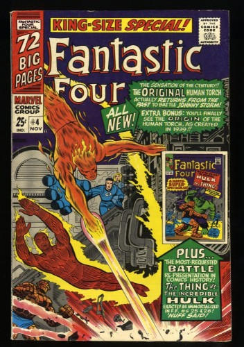 Fantastic Four Annual #4 FN 6.0