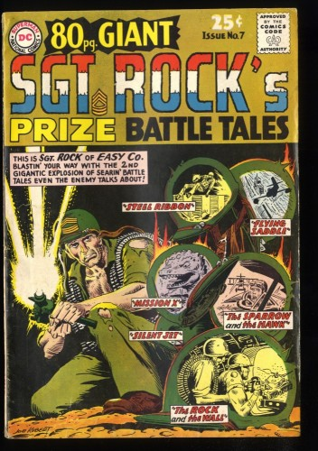 80 Page Giant #7 VG 4.0 Sgt. Rock's Prize Battle Tales!
