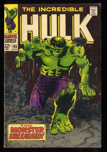 Incredible Hulk #105 VG 4.0 1st Missing Link!