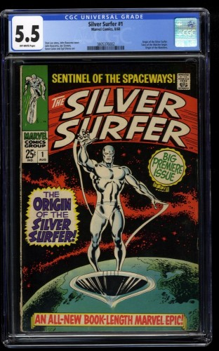 Silver Surfer #1 CGC FN- 5.5 Off White
