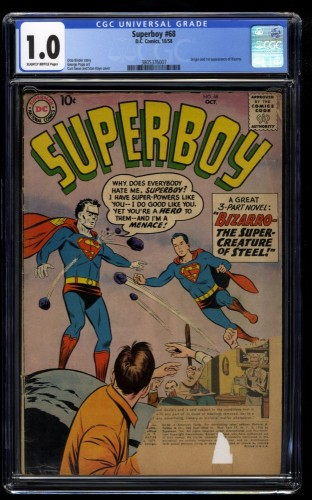 Superboy #68 CGC Fair 1.0 1st Bizarro!