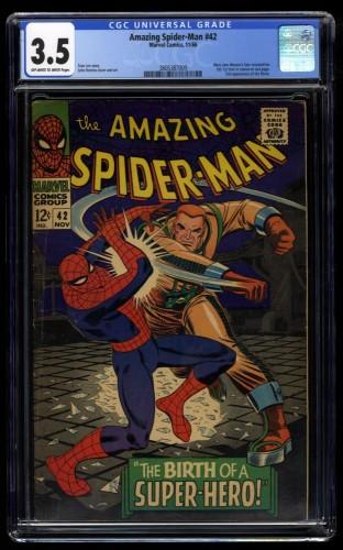 Amazing Spider-Man #42 CGC VG- 3.5 Off White to White 1st Mary Jane Watson!