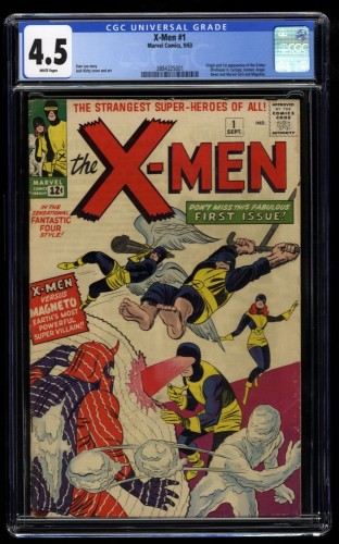 X-Men #1 CGC VG+ 4.5 White Pages