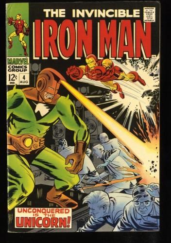 Iron Man #4 VF- 7.5 Unicorn!