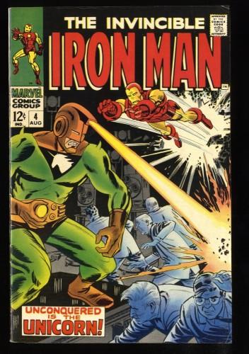 Iron Man #4 FN/VF 7.0 Unicorn!
