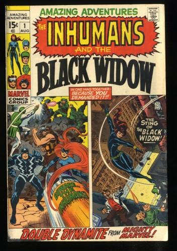 Amazing Adventures #1 FN+ 6.5 1st Black Widow Solo!