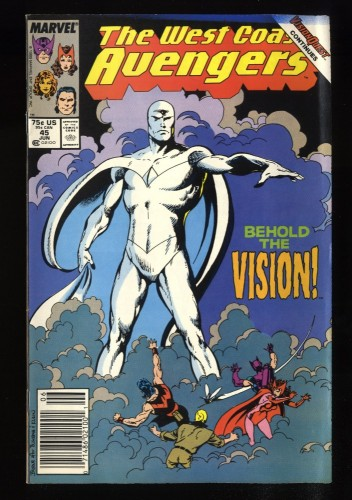 West Coast Avengers #45 FN+ 6.5 Newsstand Variant 1st White Vision!
