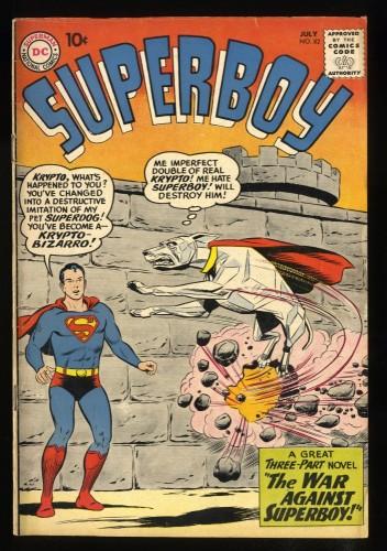 Superboy #82 FN- 5.5 1st Bizarro Krytpo!