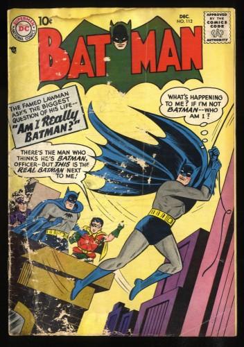 Batman #112 GD- 1.8
