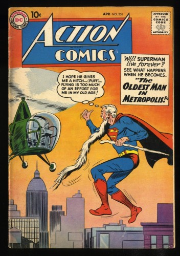 Action Comics #251 VG/FN 5.0 1st Supergirl Ad!