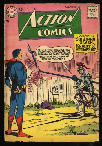 Action Comics #231 VG- 3.5 Superman Jimmy Olsen!
