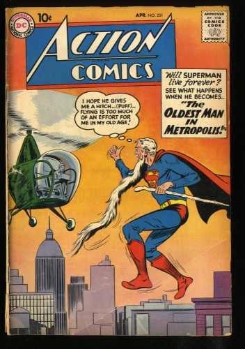 Action Comics #251 GD- 1.8 1st Supergirl Ad!