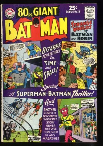 80 Page Giant #12 VG 4.0 Batman!