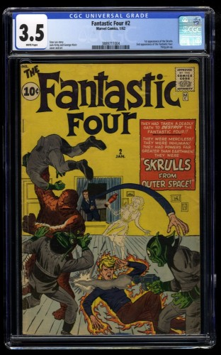 Fantastic Four #2 CGC VG- 3.5 White Pages