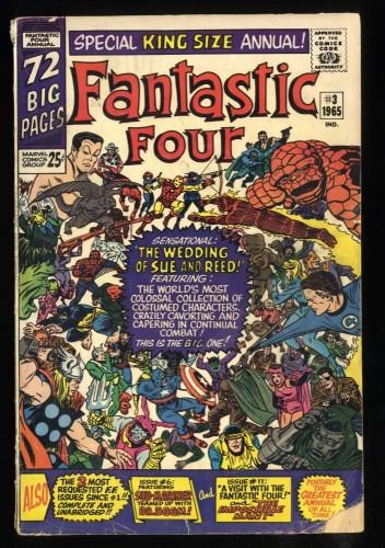 Fantastic Four Annual #3 GD/VG 3.0