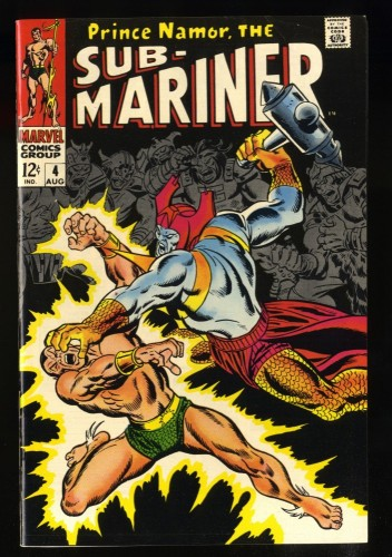 Sub-Mariner #4 VF+ 8.5 White Pages