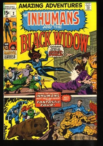 Amazing Adventures #2 VF/NM 9.0 White Pages Black Widow Inhumans!